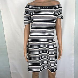NWT Tommy Hilfiger Striped Offshoulder Dress